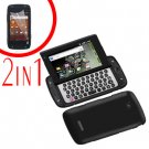 For Samsung Sidekick 4G T839 Cover Hard Phone Case Black + Screen 2in1