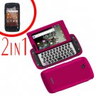 For Samsung Sidekick 4G T839 Cover Hard Phone Case R-Pink + Screen 2 in1