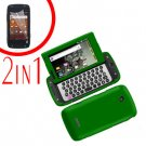 For Samsung Sidekick 4G T839 Cover Hard Phone Case Green + Screen 2in1