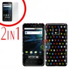For LG T-Mobile G2x Cover Hard Case R-Dot +Screen 2-in-1