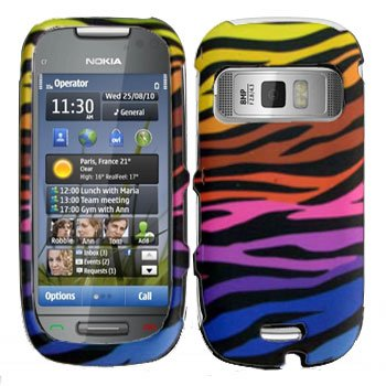 For Nokia Astound C7 Cover Hard Case C-Zebra