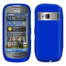 For Nokia C7-00 Cover Hard Case Rubberized Blue