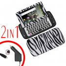 For Samsung Sidekick 4G Car Charger +Cover Hard Case Zebra 2-in-1