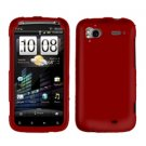 FOR HTC Sensation 4G Cover Hard Phone Case Rubberized Red