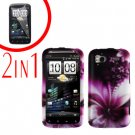 For HTC Sensation Cover Hard Case L-Flower + Screen Protector 2-in-1