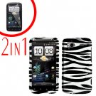 For HTC Sensation Cover Hard Case Zebra + Screen Protector 2-in-1
