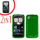 For HTC Sensation Cover Hard Case Green + Screen Protector 2-in-1