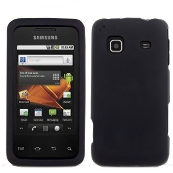 For Samsung Galaxy Prevail Cover Hard Case Rubberized Black