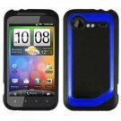 FOR HTC Droid Incredible 2 Cover Hard Phone Case 2-Tone Black/Blue