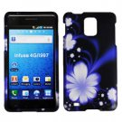 For Samsung Infuse 4G Cover Hard Case B-Flower +Screen Protector