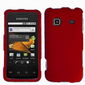 For Samsung Galaxy Prevail Cover Hard Case Rubberized Red