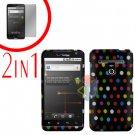 For LG Revolution VS910 Cover Hard Case R-Dot + Screen Protector 2-in-1