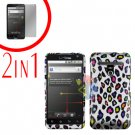 For LG Revolution VS910 Cover Hard Case R-Leopard + Screen Protector 2-in-1