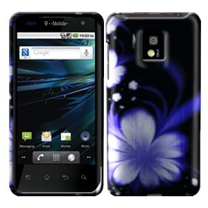 For LG Optimus 2x P990 Cover Hard Case B-Flower