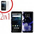 For LG Optimus 2x P990 Cover Hard Case B-Flower +Screen 2-in-1