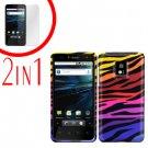 For LG Optimus 2x P990 Cover Hard Case C-Zebra +Screen 2-in-1
