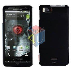 For Motorola Droid X2 Cover Hard Case Rubberized Black