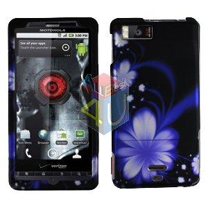 For Motorola Milestone X Cover Hard Case B-Flower