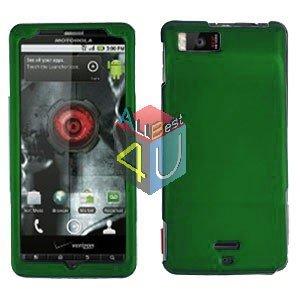 For Motorola Milestone X Cover Hard Case Rubberized Green