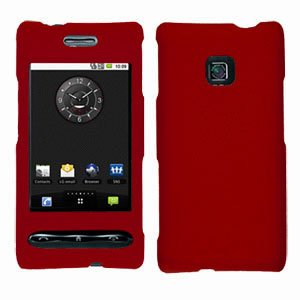 For LG Optimus GT540 Cover Hard Case Rubberized Red
