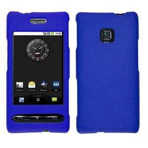 For LG Optimus GT540 Cover Hard Case Rubberized Blue
