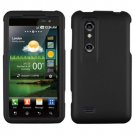 For LG Thrill 4G / Optimus 3D P920 Cover Hard Case Rubberized Black