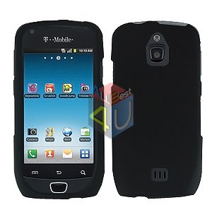 For Samsung Exhibit 4G Cover Hard Case Rubberized Black ( SGH-T759 )