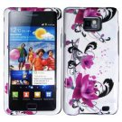 For Samsung Galaxy S II i9100 Cover Hard Case W-Flower