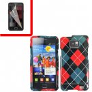 For Samsung Galaxy S II i9100 Cover Hard Case Agryle +Screen Protector