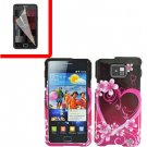 For Samsung Galaxy S II i9100 Cover Hard Case Love +Screen Protector