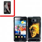 For Samsung Galaxy S II i9100 Cover Hard Case F-Skull +Screen Protector