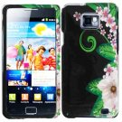For Samsung Galaxy S II i9100 Cover Hard Case GR-Flower