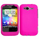 For HTC Wildfire S Cover Hard Case Hot Pink