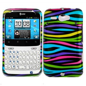 For HTC Status / ChaCha Cover Hard Case Rainbow