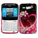 For HTC Status / ChaCha Cover Hard Case Love