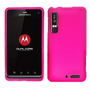 For Motorola Droid 3 XT862 Cover Hard Case Hot Pink