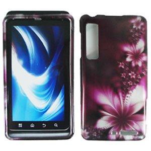 For Motorola XT860 4G / Droid 3 Cover Hard Case L-Flower