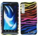 For Motorola Droid 3 XT862 Cover Hard Case C-Zebra