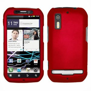 For Motorola Photon 4G/ Electrify MB855 Cover Hard Case Red