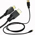 For Motorola Droid 3 XT862 Micro HDMI to HDMI Cable 6ft