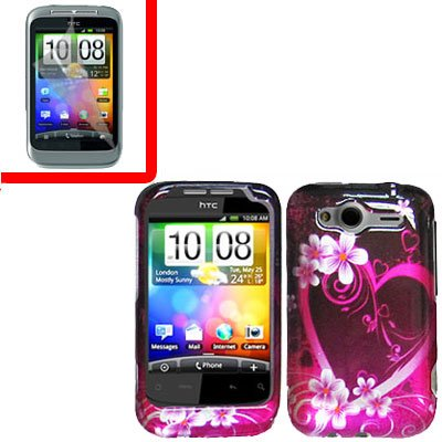 For HTC Wildfire S Cover Hard Case Love + Screen Protector 2-in-1