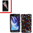 For Motorola Droid 3 XT862 Cover Hard Case R-Dot +Screen 2-in-1