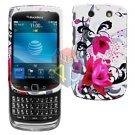 For BlackBerry Torch 9810 4G Cover Hard Case W-Flower