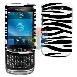 For BlackBerry Torch 9810 4G Cover Hard Case Zebra + Screen Protector