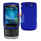 For BlackBerry Torch 9810 4G Cover Hard Case Blue + Screen Protector