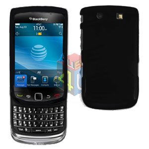 For BlackBerry Torch 9810 4G Cover Hard Case Black + Screen Protector