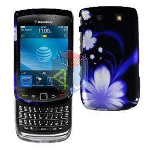 For BlackBerry Torch 9800 Cover Hard Case B-Flower+ Screen Protector