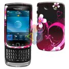 For BlackBerry Torch 9800 Cover Hard Case Love + Screen Protector
