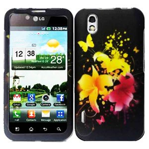 For LG Marquee LS855/ Optimus Black P970 Cover Hard Case Y-Flower