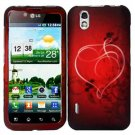 For LG Marquee LS855/ Optimus Black P970 Cover Hard Case Heart